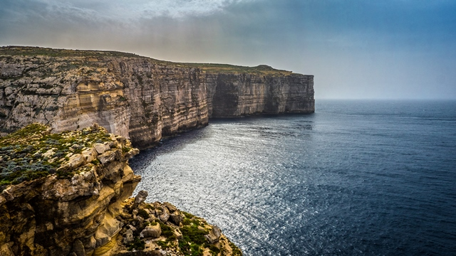 Gozo Cliffs Aerial View (1)